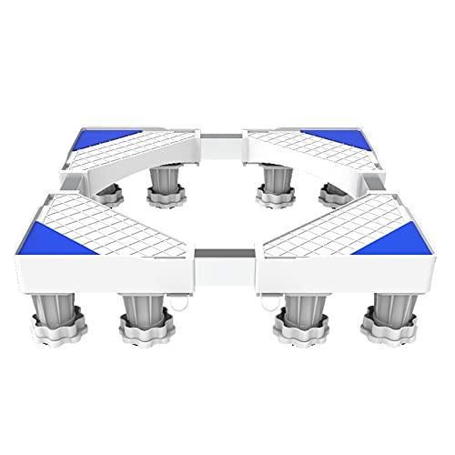 GEREP Supporto Frigorifero Base Frigorifera Base Lavatrice Regolabile Multifunzione, Antiurto e Silenzioso / 8 piedi / 41 / 64cm/16.1/25.5cm