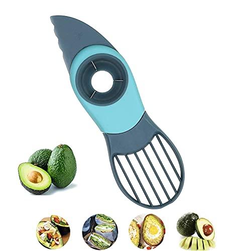 TEANQIkejitop Cortador 3 en 1 para frutas y verduras herramienta Slicer - Apto para lavavajillas (verde)