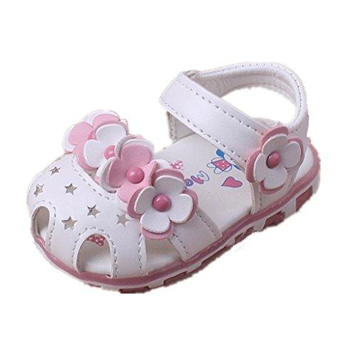 Prewalker Zapatos Auxma Las Sandalias Huecos de Las Flores de los bebés Soft-Soled Princesa Calzan los Zapatos del Verano de Firstwalker Iluminado