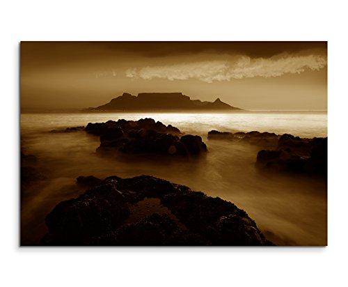 Paul Sinus Art 100x70cm Bild Sepia Tafelberg Cape Town Süd Afrika