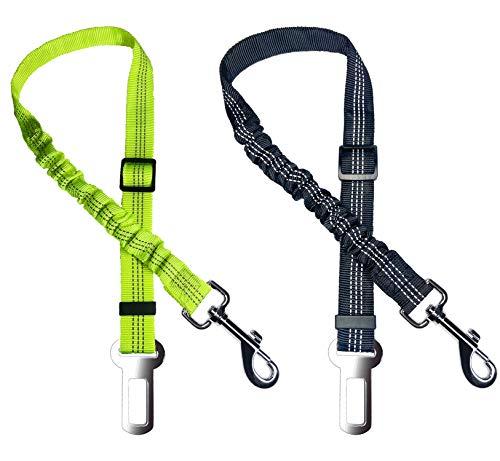 Cokomono Cintura di Sicurezza per Cani, 2 Pezzi Cintura di Sicurezza 65-90cm Elastico e Regolabile per Cani Gatti e Altri Animali Domestici