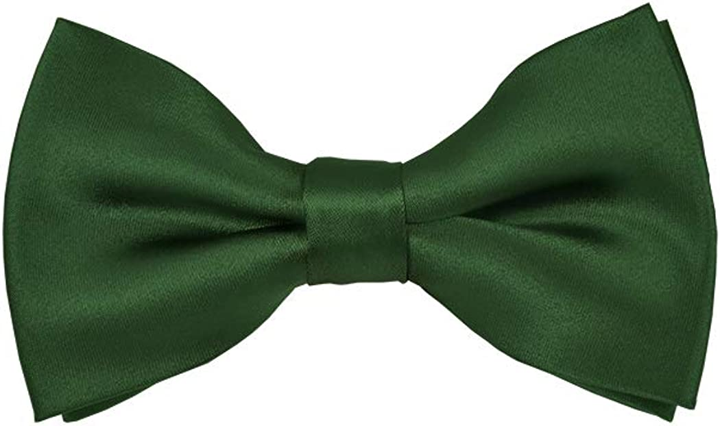 Solid Forest Green Men's Pre-Tied Bow Tie