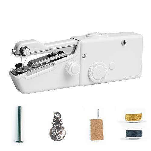 Mini máquina de coser, Mini Máquina de Coser Portátil De Mano Herramientas Portátiles Pantalones de coser rápida y manejable adecuada para ropa de tela para Viaje/Casa