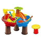 Sand und Wasserspieltisch, Sandspielzeug Set Kinder Kinder Strand Wasser Outdoor-aktivitäten Spiel Bautisch, Kreative Baby Sommer Sand Wassertisch Box Baby Kinder Handgemachte Spielzeug Familie Set