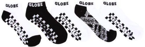 Globe Strobe Ankle Socks , Chaussettes homme lot de 5 - Noir et blanc, Textile 7-11