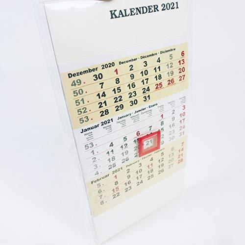Terminkalender/Standkalender 2021, viele Infos enthalten z.B. Schulferien, Feiertage, Postgebühren u.v.m, Kalender, Buchkalender, Jahresplaner, Tageskalender, Chefplaner, Tischkalende (Standkalender)