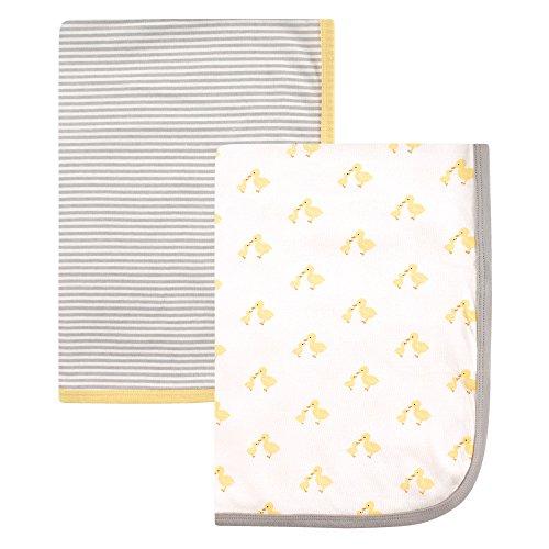 Hudson Baby Unisex Baby Cotton Swaddle Blankets, Ducks, One Size