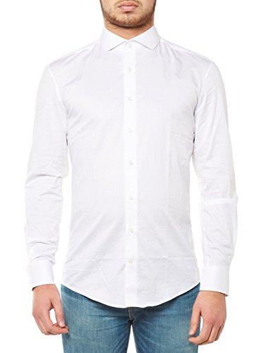 Drykorn Herren Businesshemd Elias 47189 888 H-Hemden, Weiß (Weiß 60), Medium (Herstellergröße: 40)