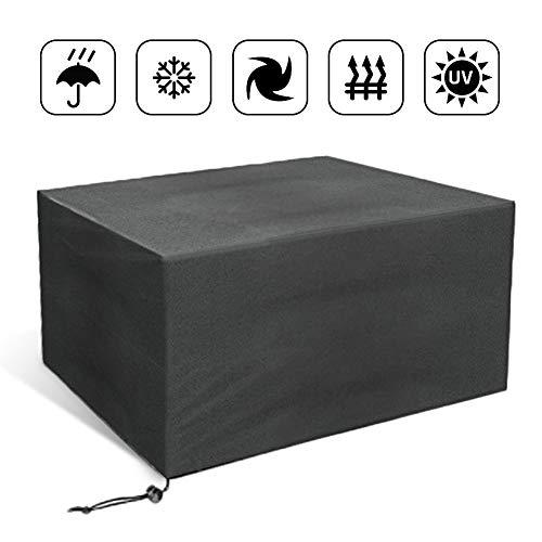 Flyelf Gartenmöbel Abdeckung 110x110x65cm,Wasserdicht Schutzhülle für Gartentisch (110x110x65cm/Schwarz)