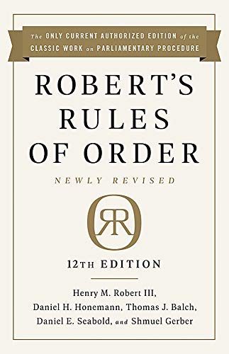 Real Estate Investing Books! - Robert's Rules of Order Newly Revised, 12th edition