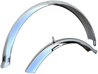 chrome road bike fenders