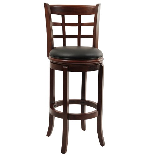 Boraam Kyoto Bar Height Swivel Stool, 29-Inch, Cherry