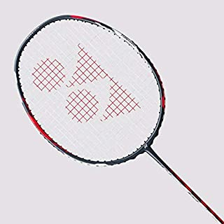 Yonex Duora 77 Badminton Racket (Red/White)(3UG4)(Strung with BG65@ 24lbs)