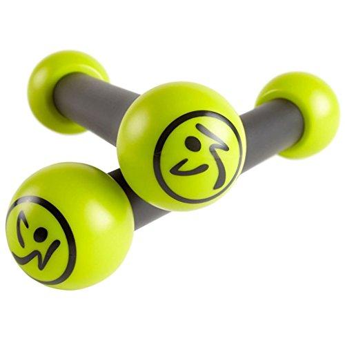 Zumba 2-tlg. Toning Sticks Set Fitness Rasseln Hanteln 0,5 kg Grün Grau ZUM010
