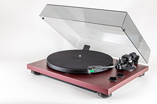 Teac TN-400S Belt-Driven Turntable with S-Shaped Tonearm in Matte Bordeaux