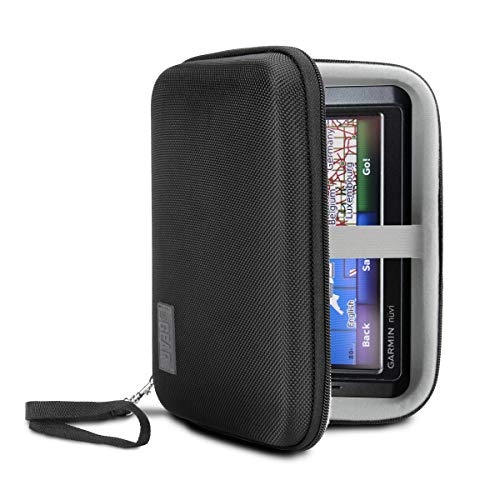 USA Gear Hard Case Electronic Organizer Travel Case 7.5 Inch with Weather Resistant Exterior and Large Mesh Accessory Pocket - Compatible with Garmin GPS, Chargers, Hard Drives and More Electronics