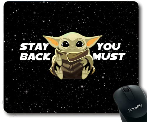 Aoliaofc Star Wars Mouse Pads with Non-Slip Rubber Base Mouse Pad for Laptop Computer& Pc 8.6x7inches, Black