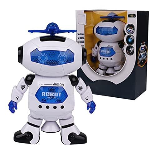 COSYOO Robot De Baile De Luz con Sonido para Caminar, Juguete Inteligente Interactivo De Plástico, Robot De Música Inteligente para Caminar, Robot De Canto De Juguete