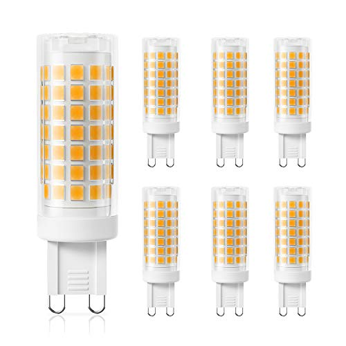 DiCUNO G9 4W Dimmbar LED Lampe, Ersatz für 40W Halogen Lampen, 220-240V, Warmweiß 3000K, 430 LM, CRI>85, Kein Flackern (6er-Pack)