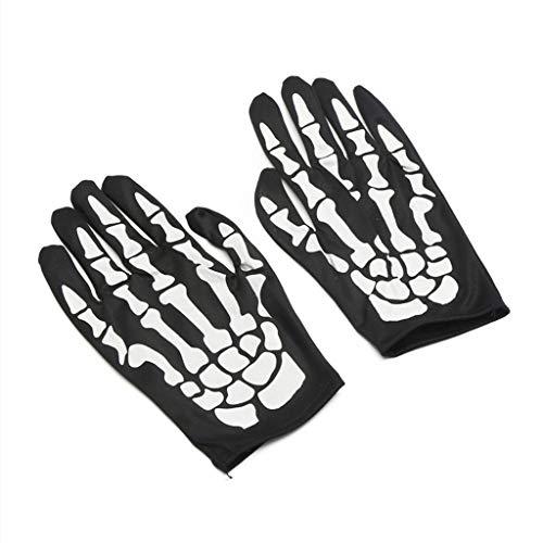 WINJEE, Halloween skelet handschoenen fancy jurk bot kostuum accessoire kinderen en volwassenen