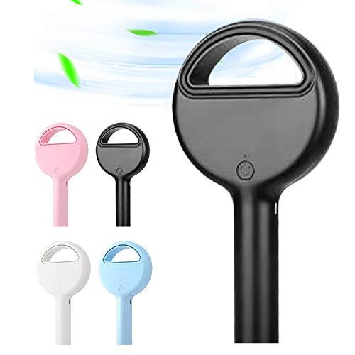 DY Ventilador USB,Ventilador Sin Cuchilla De Mano, Portátil USB Recargable Ventilador Sin Cuchilla Mini Refrigerador De Mano Ventilador Sin Cuchilla con 3 Niveles De Velocidad El Hogar Viajes-Black