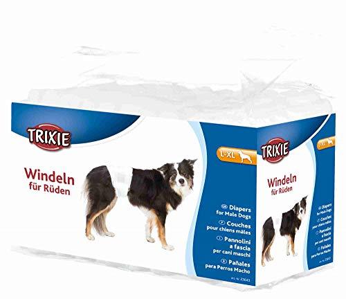 TRIXIE 12 Pañales para Perro Macho, L-XL, 60-80 cm, Perro