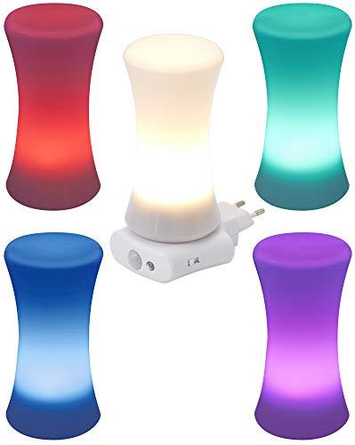 Northpoint LED Steckdosen Nachtlicht Taschenlampe Weiß Wandleuchte Multifunktion Bewegungsmelder Induktionsladung Akku Notlicht Notlampe Stromausfall (Multileuchte Zylinder)