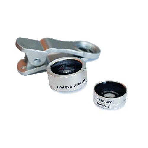 Uming 3in1Funda para teléfono Kit de Objetivo fotográfico cámara Set 198Grado Ojo de pez + (15x) y Macro (0,63x) 2en 1Gran Angular para iPhone 7Plus Samsung Galaxy S7Edge