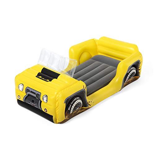 Bestway Unisex Jugend Up, In & Over Kinder Luftbett 4X4 Truck zum Reisen oder als Gästebett, 160 x 84 x 62 cm, color, Size