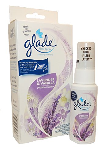 Glade Scented Air Filter Spray, Lavender & Vanilla, 2 oz, FSLV