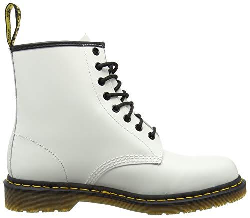 Dr. Martens 1460, Botas Militares Unisex, Blanco (White Smooth), 41 EU