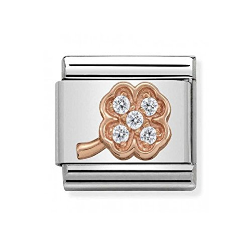 Nomination Composable Classic Women's Charm Bead Partially Gold-Plated Stainless Steel and White 430302/14