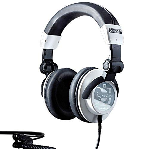 ULTRASONE Signature DJ Kopfhörer in Weiß   Dynamische geschlossene high-end Headphones   Mit Ohr-Polstern aus Leder und Aufbewahrungsbox