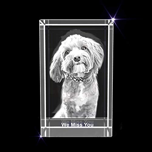 Personalized Pet 3D Engraved Crystal Photo Gift (Small Rectangle)