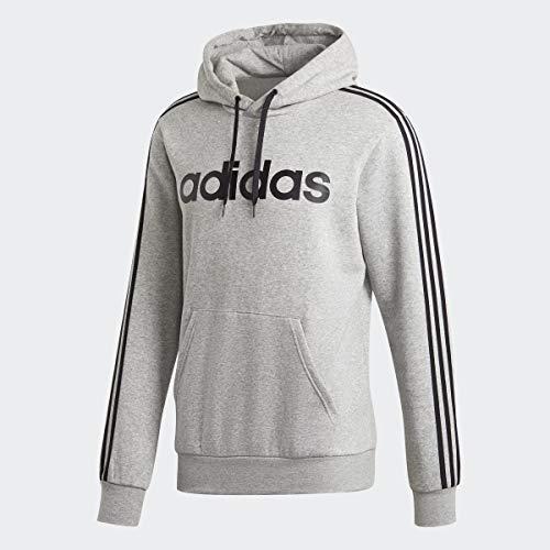 adidas Essentials 3-Stripes Pullover Fleece, Light Gray/White, 3XL Tall
