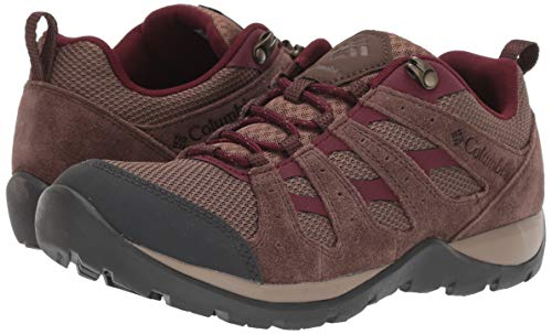 Columbia Women's Redmond V2 Hiking Shoe, Dark Truffle, Rich Wine, 5
