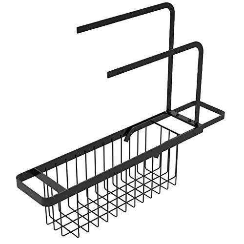 Gohfeoeo - Soporte telescópico para fregadero, cesta de almacenamiento ampliable, escurridor de jabón, bandeja para fregadero,...