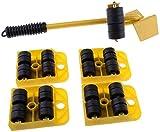 JISHIYU-S 360 ° Mover Muebles Roller Sistema Deslizante Rodillos/Muebles Set/Appliance, Conjunto de 5 Piezas, Mover hasta 150 kg / 330 LBS