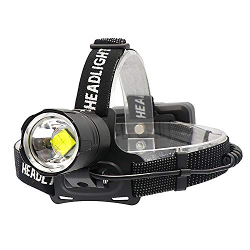 SUNSHIN Lampe Frontale Rechargeable, Lampe Frontale LED Lampe de Poche Casque étanche, Voyant d'angle réglable pour Sauvetage, Camping, pêche