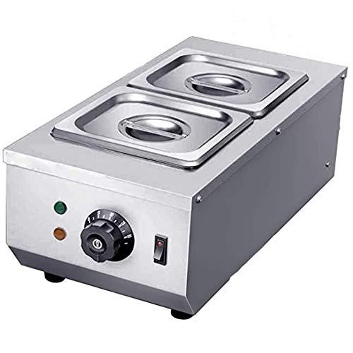 WLIXZ 2 * 1,6 l Schokoladentemperiermaschine 2 Töpfe Gewerbliche 30~80 ° C Schokoladenschmelzschmelzmaschine Doppelzylinderknopfsteuerung