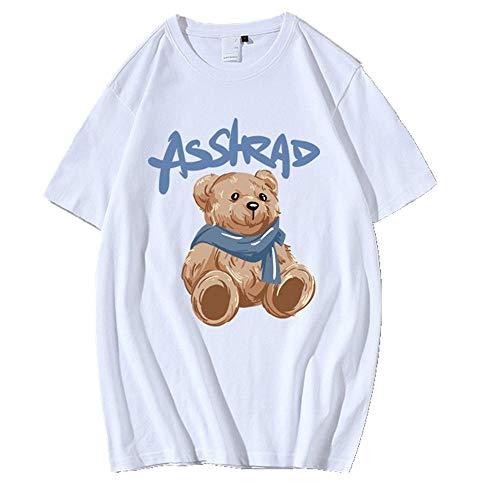 Camiseta de manga corta para mujer. blanco 1 XL