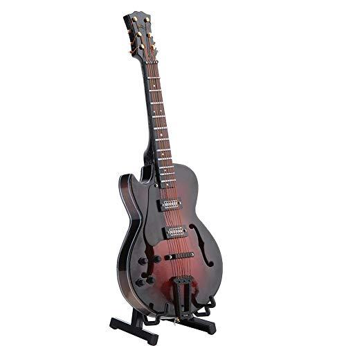 HEEPDD Guitarra roja en Miniatura, Juguete de Madera roja Modelo de Guitarra...