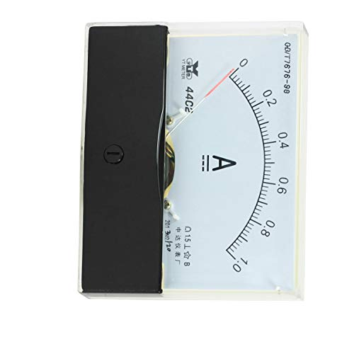 Aexit Analog Spannungsprüfer DC 0-1A Strom rechteckig Systemsteuerung Analog Amperemeter Messgerät, Messbereich 44C2