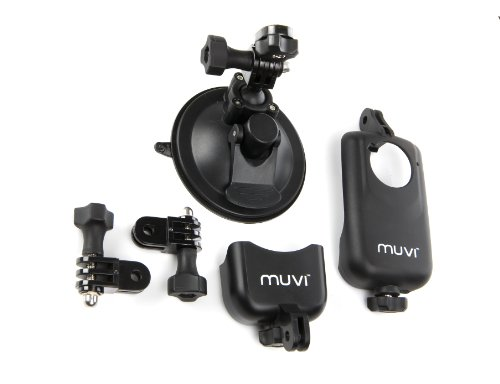 Price comparison product image Veho VCC-A020-USM Short based Universal Suction Mount for MUVI HD with two MUVI HD holders
