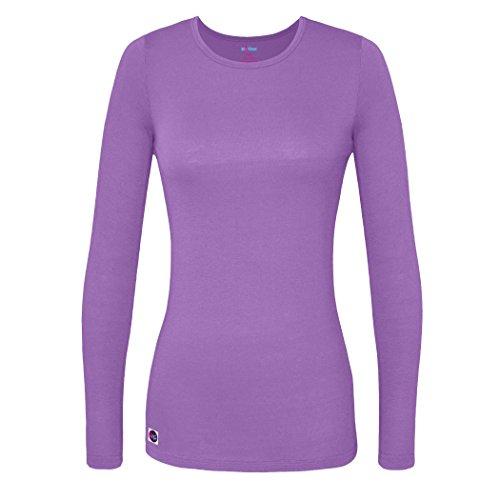 Sivvan Women's Comfort Long Sleeve T-Shirt/Underscrub Tee - S8500 - Lavender - L