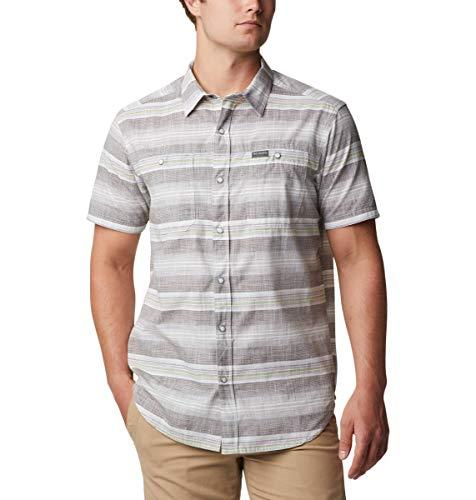Columbia Men's Leadville Ridge Short Sleeve Shirt II, Safari Stripe, Large
