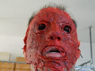 Dead Head Props Halloween Prop Hand Made Realistic Bloody Skinned Face Mask