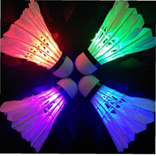 Froiny Illuminazione Badminton Shuttlecock Night Dark Night Colorful LED Illuminazione Sport Badminton Accessori a Sfera Badminton Spot Spot Shuttle (Colore Casuale)