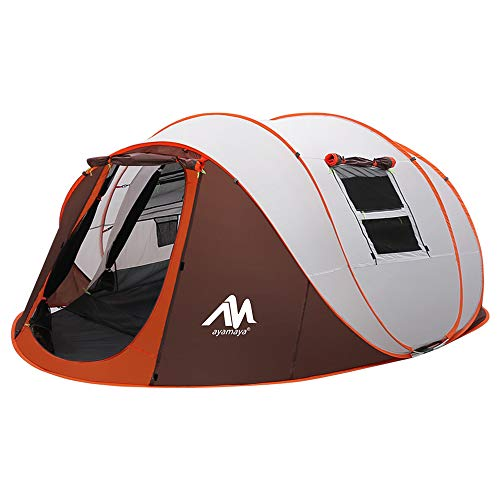 Tent 4-6 Person/Man, Camping Instant Pop Up Tents [5 Window] Waterproof Double Layer 4 Season Tents...