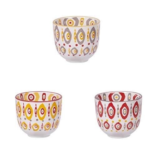 Table Passion - Gobelets à thé apache 10 cl (lot de 3 assortis)